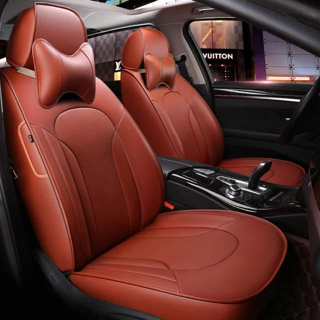 Custom Made Leather Car Seat Covers For Volkswagen 4 5 6 7 Vw Passat B5 B6 B7 Polo Golf Mk4 Tiguan Jetta Touareg Accessories