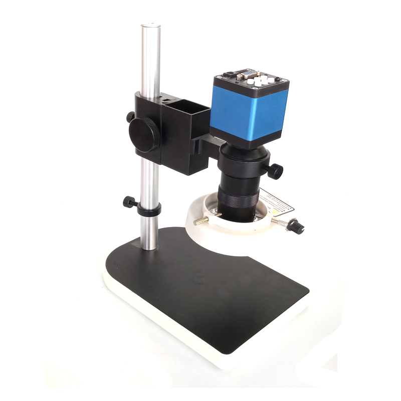 Remote control 720P 13MP HDMI VGA Industry Microscope Camera stand+8X-130X C-mount +56 led rings for PCB/Lab Phone repairing industry vga camera with remote control 130x c mount glass lens for industry lab microscope camera cctv