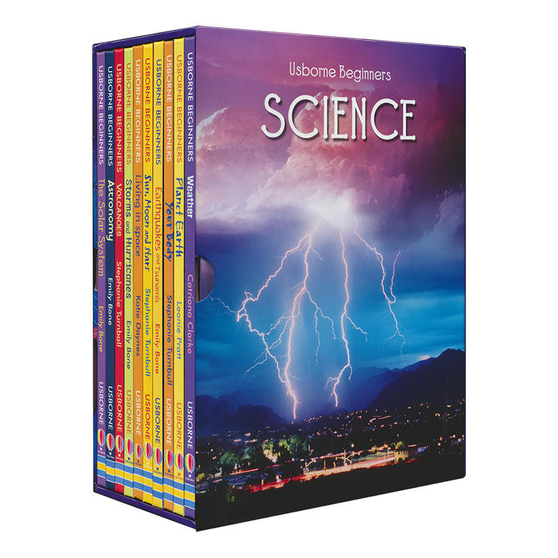 10 Books Set Beginners Science Children Interesting Science Books Kids English Reading Story Book