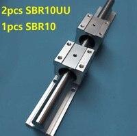 1pcs SBR10 1000mm/1100mm/1200mm/1300mm/1400mm/1500mm support rail linear guide with 2pcs SBR10UU linear bearing blocks