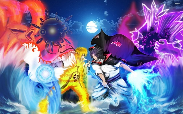 free shipping naruto vs sasuke anime poster hd home wall decor