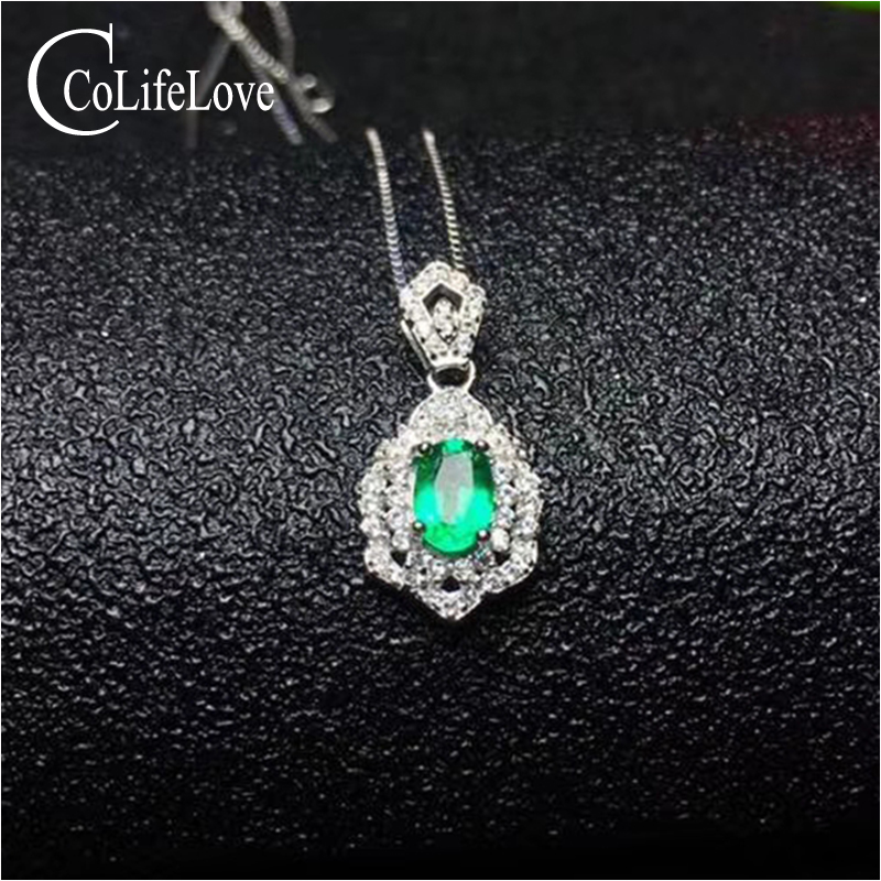 Dazzling emerald silver pendant for party 4 mm * 6 mm natural emerald pendant solid 925 silver emerald wedding jewelry fashion silver wing pendant with emerald 17 pcs natural emerald pendant for party solid 925 silver emerald jewelry for woman