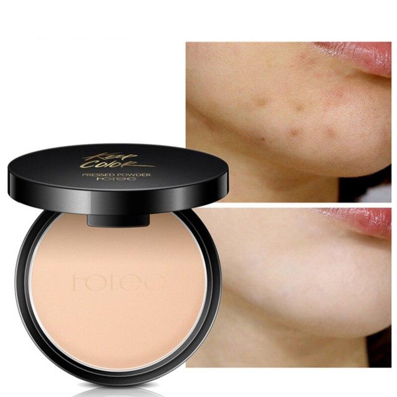 Mode Vrouwen Gezicht Mineral Geperst Poeder Concealer Base Up Foundation Compact Poeder Gemakkelijk Te Dragen Waterdicht Blijvende Make-Up