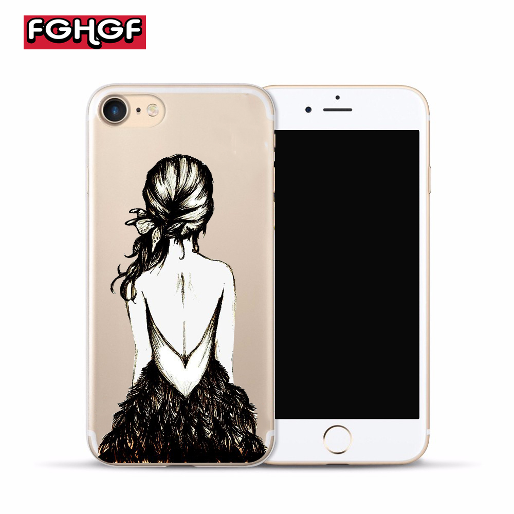 FGHGF Elegant <font><b>Ballet</b></font> Phone <font><b>Case</b></font> For <font><b>iPhone</b></font> 5s SE <font><b>Cases</b></font> Soft Silicone Cover For <font><b>iPhone</b></font> 5 6 6s 7 <font><b>8</b></font> <font><b>Plus</b></font> X Sexy Funda Capinha image