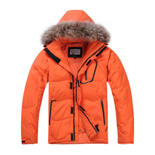 2019 New Winter Men Down Jacket Warm Down Coats White Duck Down Real Raccoon Fur Hooded Down Jackets Outwear Winter Men Coats