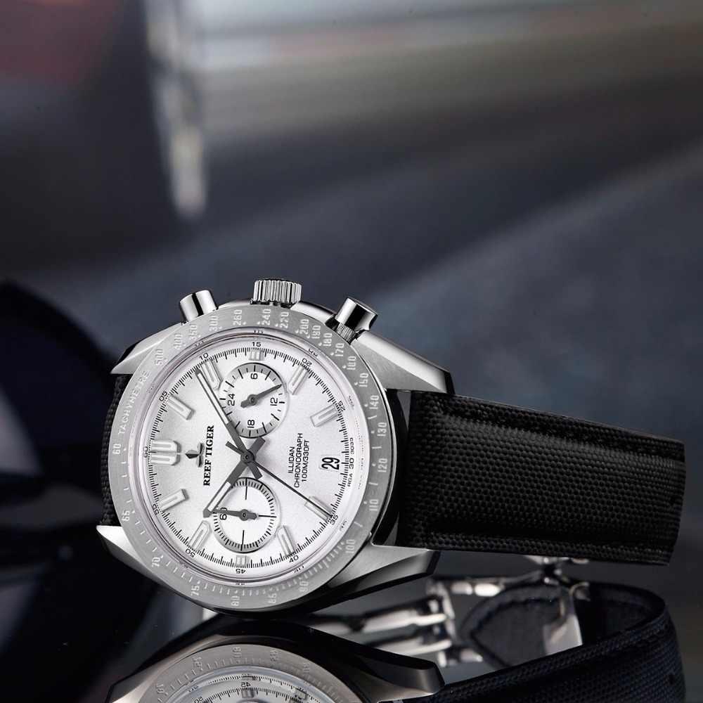 2019 שונית נמר Mens מעצב ספורט שעונים עגל ניילון רצועת 316L פלדה זוהר הכרונוגרף שעון relogio masculino RGA3033