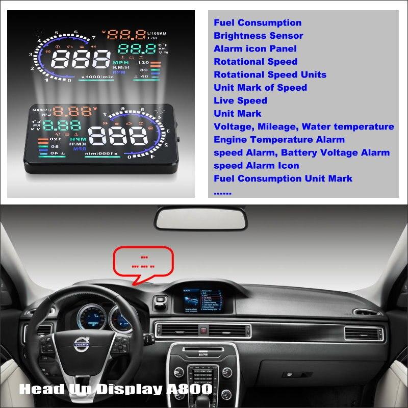 Carro HUD Cabeça Up Display Para Volvo XC90 2002 ~ 2014 Refkecting Brisa Projetor De Tela Tela de Condução Segura
