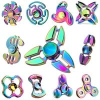 2017 Nieuwe EDC Tri-Spinner Fidget Speelgoed Patroon Hand Spinner Metalen Fidget Spinner en ADHD Volwassen decompressie speelgoed Actie