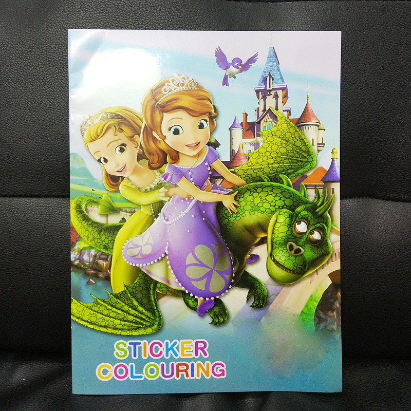 16 Page coloring book sofia Sticker/kids books Adult Coloring Books Livre drawing/Art/fashion/color/colouring Book Antistress  (China)
