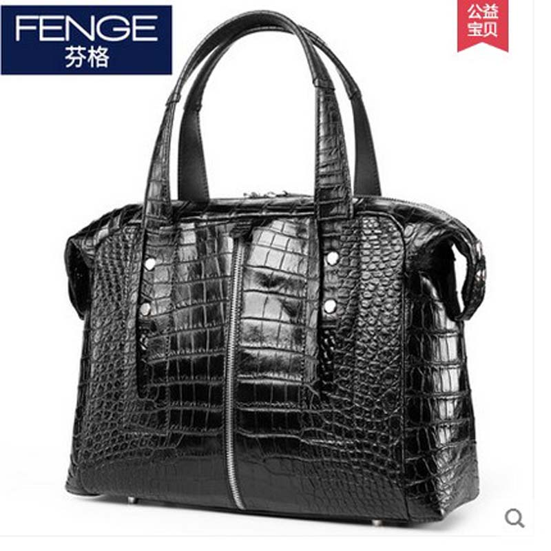 Fenge siam alligator skin Belly carry men handbag business casual large capacity crocodile men bag provoc gel lip liner 206 sensational цвет сливовый