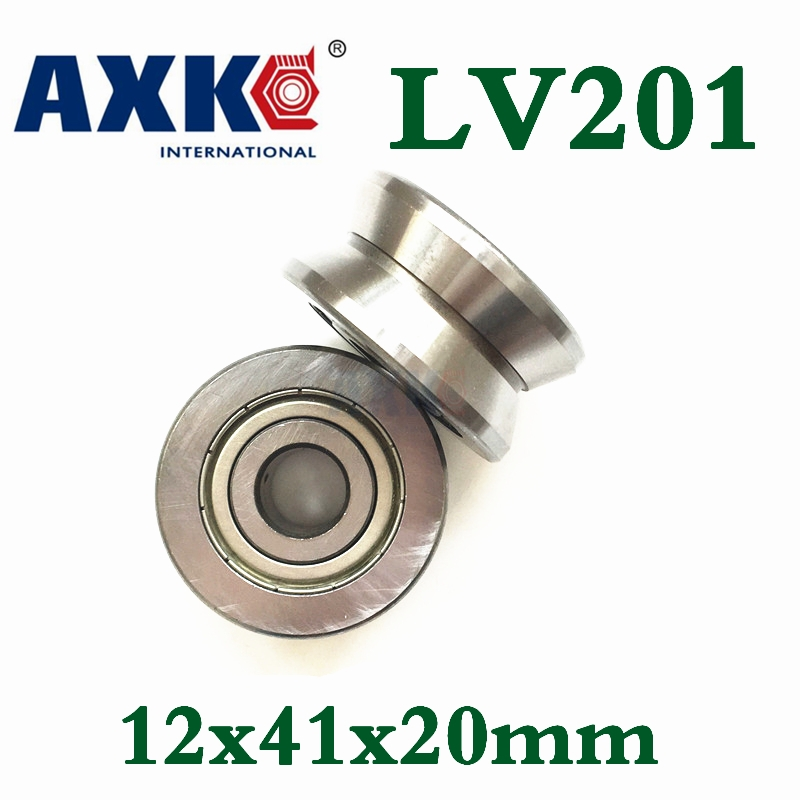 Free Shipping Lv201 V Groove Deep Groove Ball Bearing 12x41x20mm Traces Walking Guide Rail Bearings Abec3 compatible bare bulb lv lp06 4642a001 for canon lv 7525 lv 7525e lv 7535 lv 7535u projector lamp bulb without housing