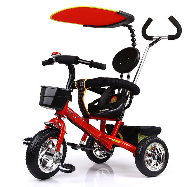 Children Tricycle 1-6-year-old Baby Tricycle Stroller Bicycle Three Wheels Stroller Baby Tricycle Umbrella Sunshade Child Car