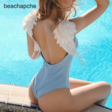 beachapche Sexy solid women bodysuit rompers bathing suit Summer style girls swimsuit