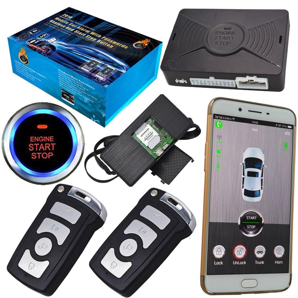 Smart phone app remote start car alarm auto central lock gps real time location keyless auto