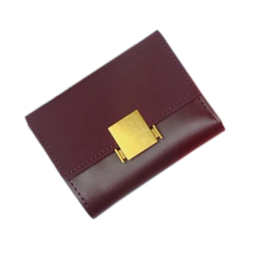 Ladies Fashion PU Leather Slim Short Wallet Female Mini Card Holder Coin Purse Women Minimalist Thin Clutch