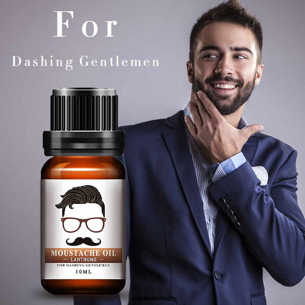 10ml barbe huile essentielle Moustache huile coiffante hydratante lissage messieurs soin adapté à tous les Types de barbe