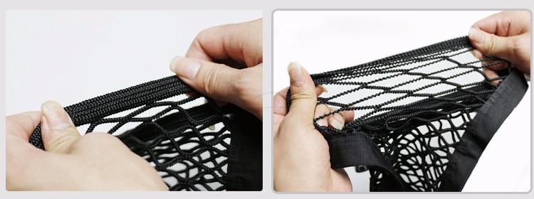 24X25cm Universal Elastic Mesh Net trunk Bag/Between Car organizer Seat Back Storage Mesh Net Bag Luggage Holder Pocket 9