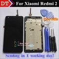 Высокое Качество ЖК-Дисплей + Сенсорный Экран Digitizer Замена Для Xiaomi Redmi2 Hongmi2 Redmi 2А Сотовый Телефон 4.7 Дюймов С кадр