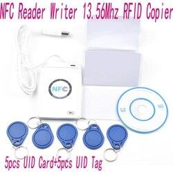 ACR122u NFC Lecteur 13.56 Mhz RFID Copieur Duplicateur + 5 pièces IDE Cartes + 5 pièces IDE Tags + SDK + M-l'ifare Copie Clone Logiciel