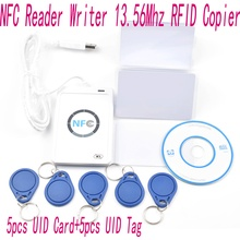 ACR122u NFC Reader Writer 13.56Mhz RFID Copier Duplicator + 5 pcs UID Cards +5pcs UID Tags+ SDK + M-ifare Copy Clone Software