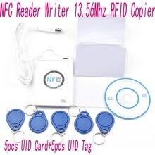 ACR122u NFC Writer Чтения 13.56 МГц RFID Копир Копировальный + 5 шт. UID Карты + 5 шт. Теги + SDK + М-ифаре UID Копировать Клон Программного Обеспечения
