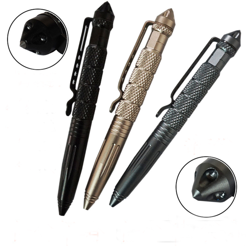 Multi-function Practical Tactical Pens EDC Aluminum Glass Breaker Self Defense Tactical Survival Pen Camping Tool For Writing