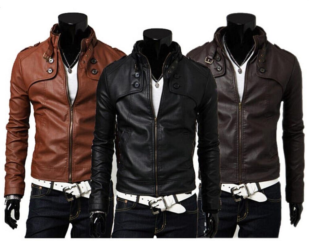 3 4 mens leather jacket
