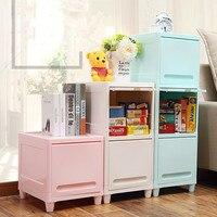 Multi functional bedroom wardrobe stackable storage cabinet flip plastic storage box Bedside cabinet shelf ZP01181125