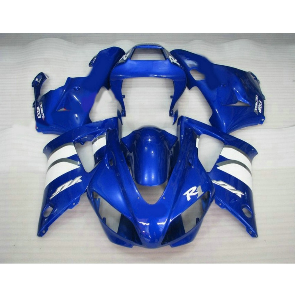 Popular ABS motorcycle injection molded fairings kit for YAMAHA 1998 1999 YZFR1 YZF R1 98 99 blue white plastic fairing abs plastic motorcycle injection racing fairings kits for yamaha yzf r1 1998 1999 yzfr1 98 99 black west abs fairing body parts