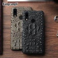 Luxury Cowhide Crocodile skull pattern phone case for Huawei Nova 3 Half pack Genuine Leather phone protection case