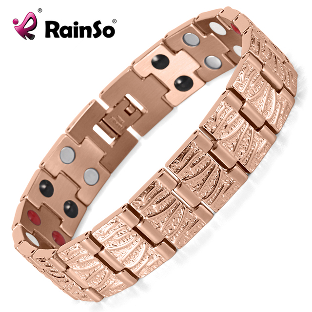 HTB1gbrQRVXXXXaOapXXq6xXFXXXz - RainSo Titanium Magnetic Bracelets & Bangle 2 Row Health Care Elements Germanium Healing Bracelet Health Hologram Wristbands
