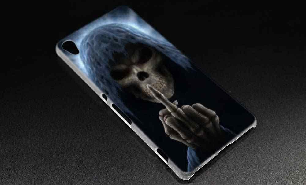 Прозрачный чехол BiNFUL Grim Reaper Skull Skeleton для sony Xperia XA XA1 X XZ Z5 Z1 Z2 Z3 M4 Aqua M5 E4 E5 C4 C5 Compact Премиум