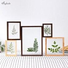 SUFEILE DIY креативный образец фоторамки домашний декор фото стена HD двухсторонняя Стеклянная фоторамка образец растения рамка D50
