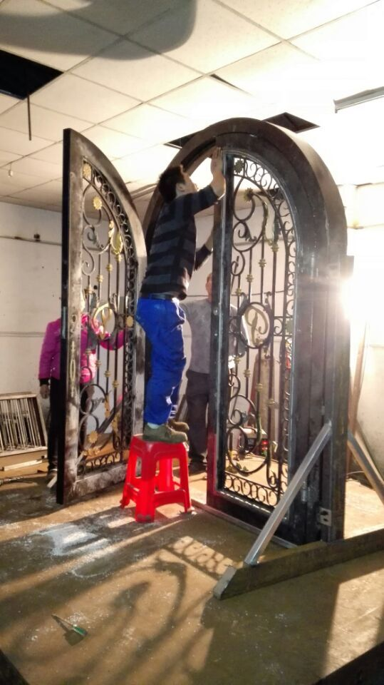 Online Shop Wrought Iron Door Double Wrought Iron Doors Iron Front