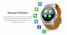 Original SMA-R Heart Rate Monitor Smart Watch, Android, Dual Bluetooth, Waterproof, Remote Camera