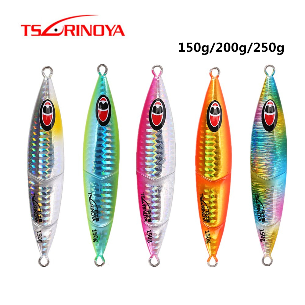 TSURINOYA <font><b>150g</b></font> 200g 250g Sinking Metal jig Spoon <font><b>Lure</b></font> Slow <font><b>Jigging</b></font> Long Casting Luminous Hard Bait Trolling Sea Fishing Tackle image