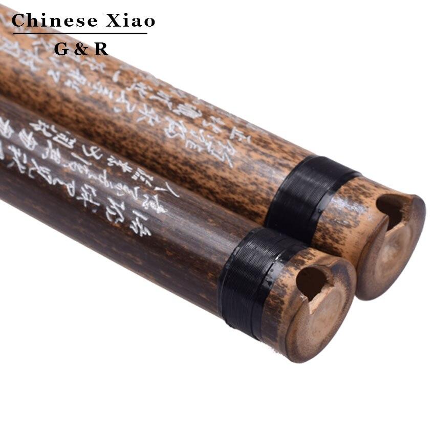 Chino Xiao Flauta Vertical De Bambú 8 Agujeros Con Precisión Cromática Sintonía