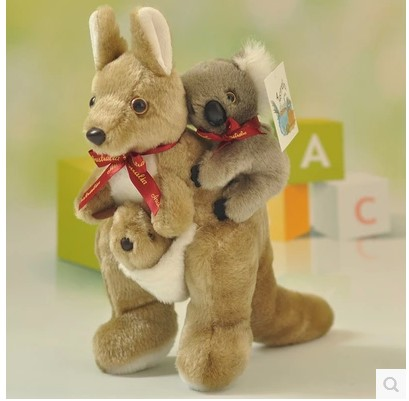 2016 new arrival stuffed animal 30cm  lovely koala bear plush toy soft mother & child koala doll.Free shipping stuffed animal 44 cm plush standing cow toy simulation dairy cattle doll great gift w501