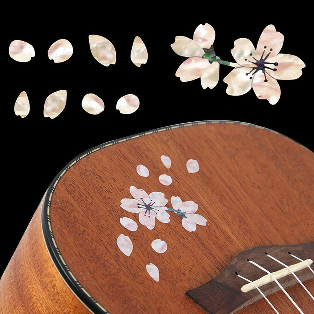 Guitar Self Adhesive Inlay Decals Fretboard Sticker Cherry Blossom Removable Guitar Bass Ukulele Fingerboard Decorate Accessory