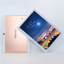 Sale!Glavey 10.1'' Android 6.0 Tablet PC MTK6582 1280*800 IPS HD Quad Core 3G GSM WCDMA Phone call PC 16G ROM 1G RAM Metal shell