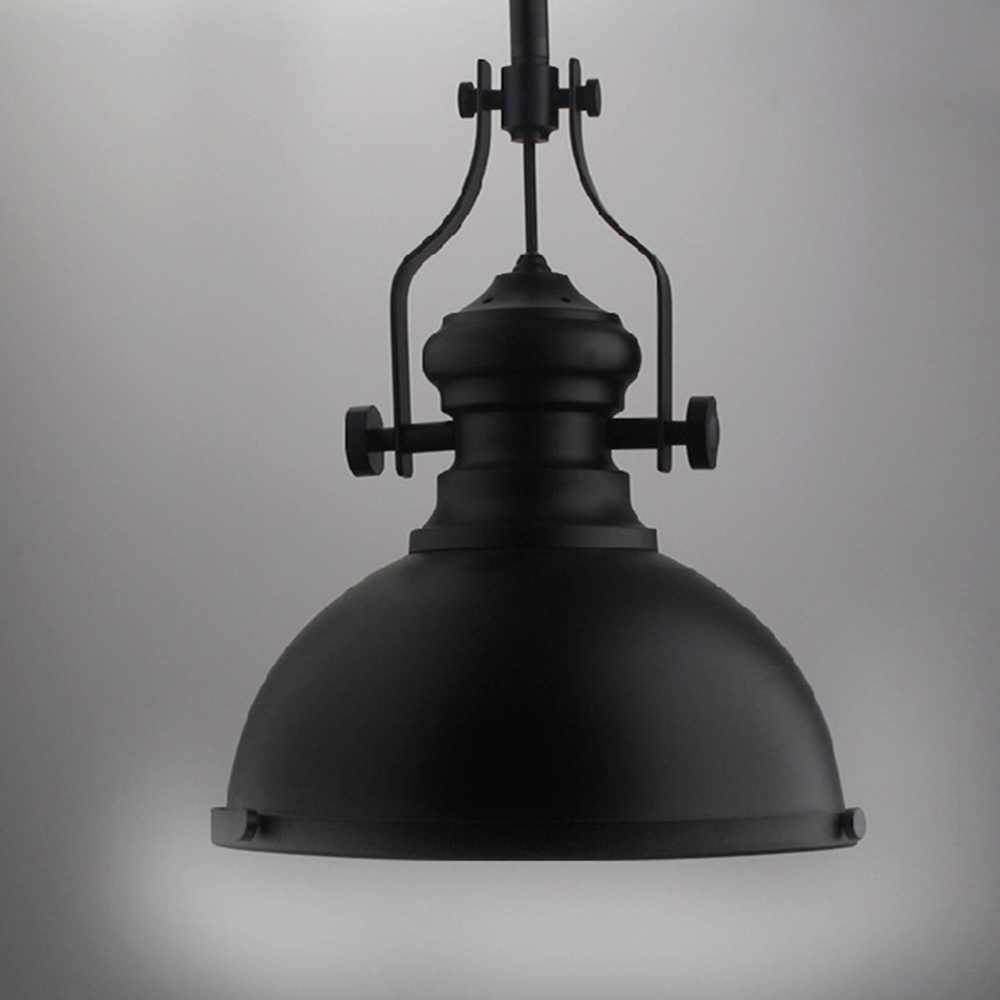 Black metal vintage industrial mining pendant lights color for Antique pendant light fixtures