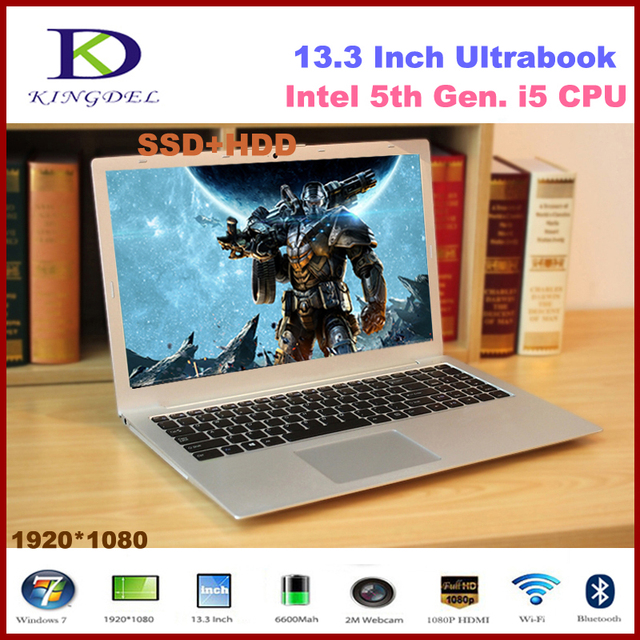 US $736 0 |Best price 8G RAM+256G SSD+500G HDD 13 3'' Netbook computer Core  i5 5200U up to 2 7GHz HDMI WIFI Bluetooth laptop win10 F200-in Laptops