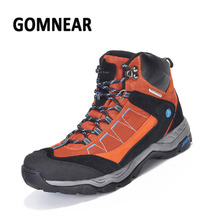 GOMNEAR Waterproof Hiking Shoes Man Tactical Shoes Hiking Sneakers Outdoor Big Size Mountain Sneakers Trekking Boots Antiskid