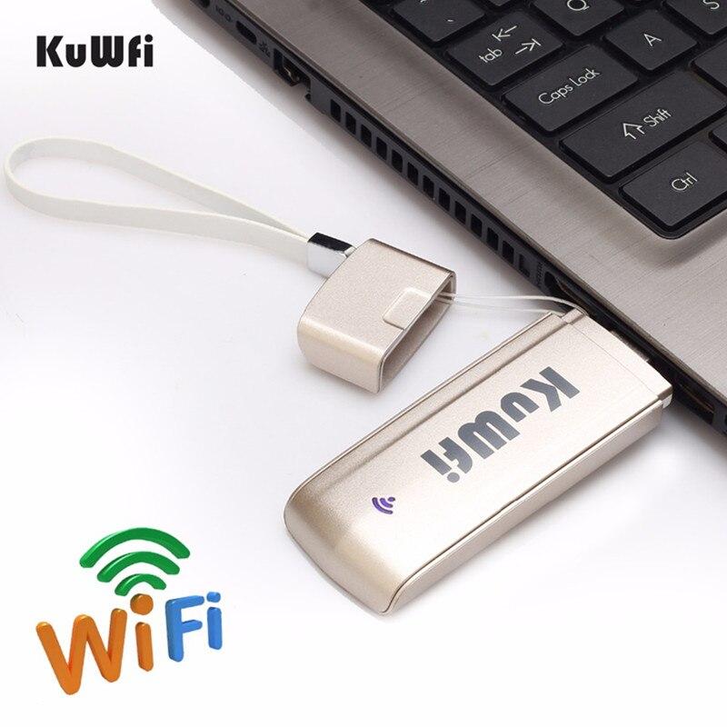 <font><b>KuWFi</b></font> USB LTE Dongle <font><b>WiFi</b></font> Hotspot 3G <font><b>WiFi</b></font> Router SIM Card Slot