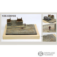 OHS JNModel CD0103 1/35 World War II Street Corner Assembly Miniatures Accessories Model Building Kits oh