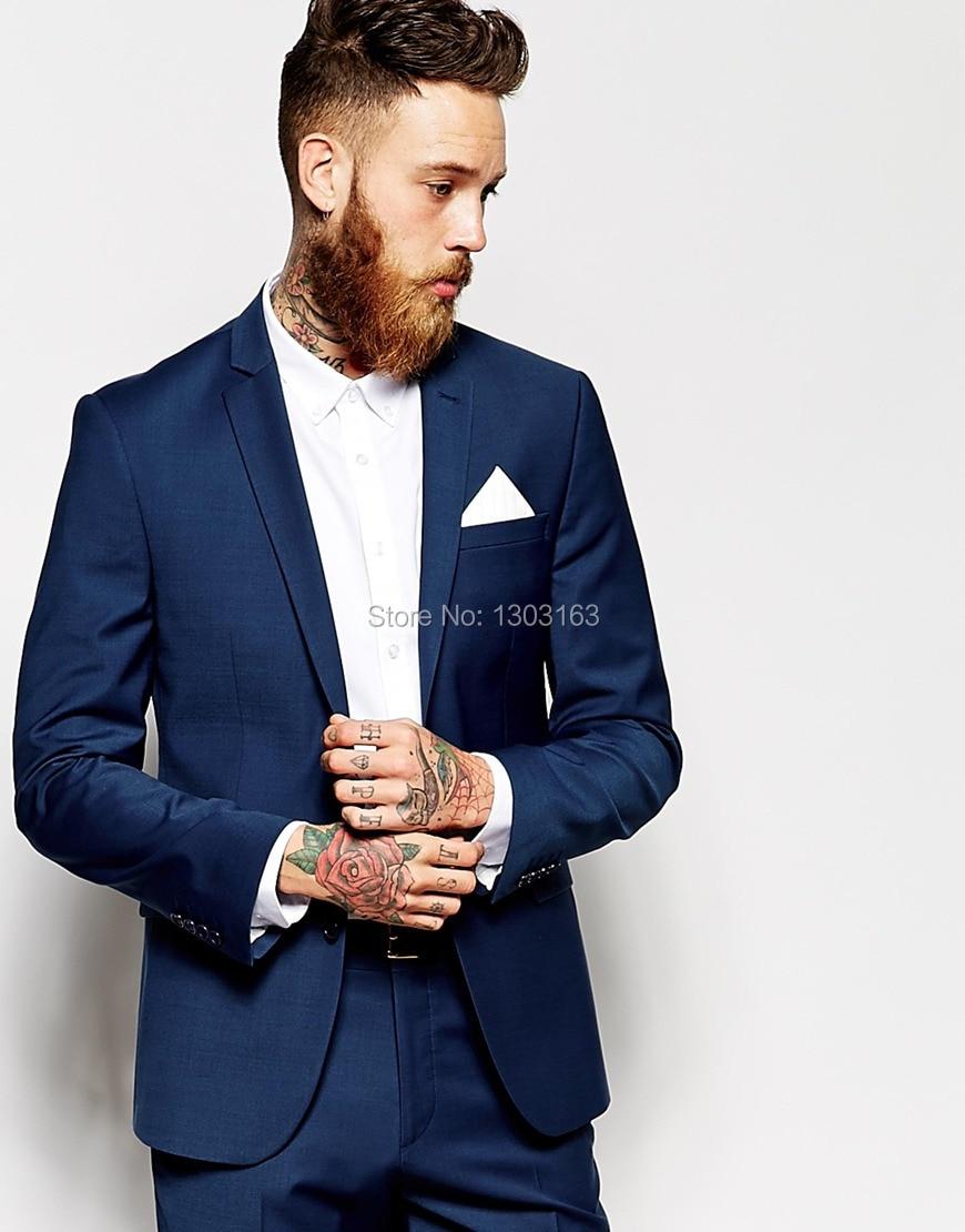 Custom Made Navy Blue Men Suit, Tailor Made Suit, Bespoke Men