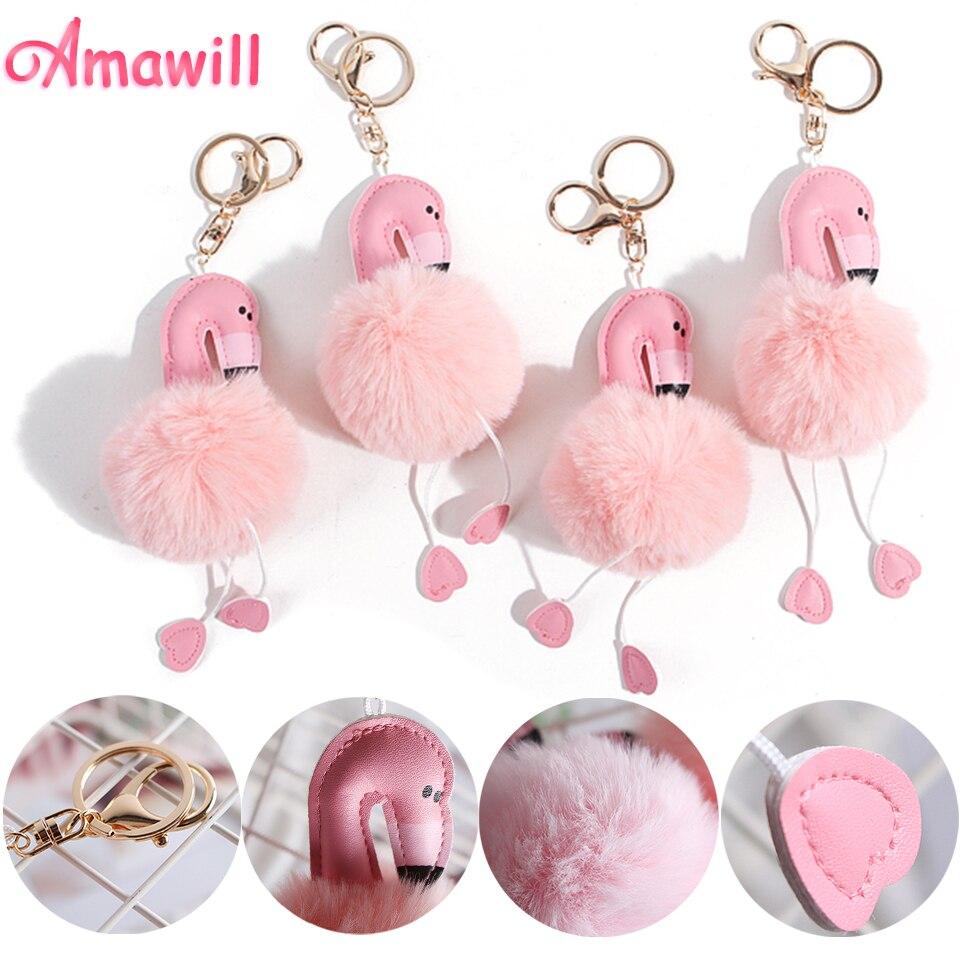 Amawill Mini Flamingo Keychain Cute Bag Pendant Bride Party ...