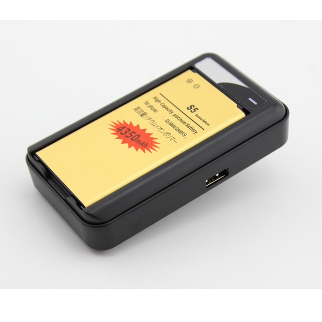 S5 i9600 Battery 2800mAh+Usb Wall Battery Charger For Samsung Galaxy S5 i9600 GS5 SM-G900 i9605 SM-G900F G900T G900P EB-BG900BBC