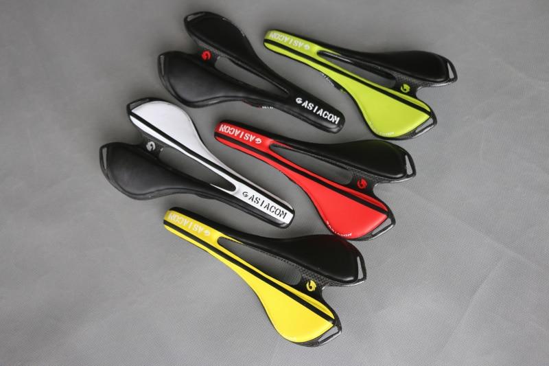 ASIACOM fibre de carbone complète vtt/route vélo selle pièces de vélo blanc rouge vert jaune noir tapis de siège avant en cuir artificiel