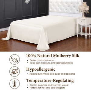 Image 4 - LilySilk Silk Flat Sheet Pure 100 Natural Mulberry 19 Momme Seamless Luxury King Queen Home Textile Free Shipping